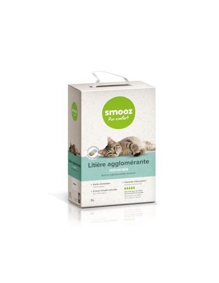Smooz - Litière agglomerée minérale 5L Smooz Hygiène, soins et litières