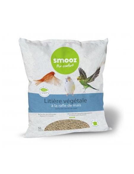 Litière végétal de maïs pour oiseaux Smooz Hygiène et soins