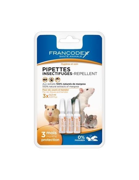 Insectifuge Spoton pour rongeur 3 pipettes Francodex Hygiène et soins