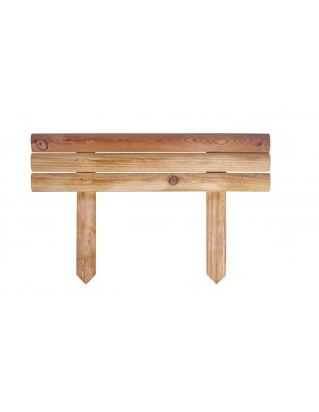 Retenue de terre en bois L.55 x 15/20 cm Robin Bordures