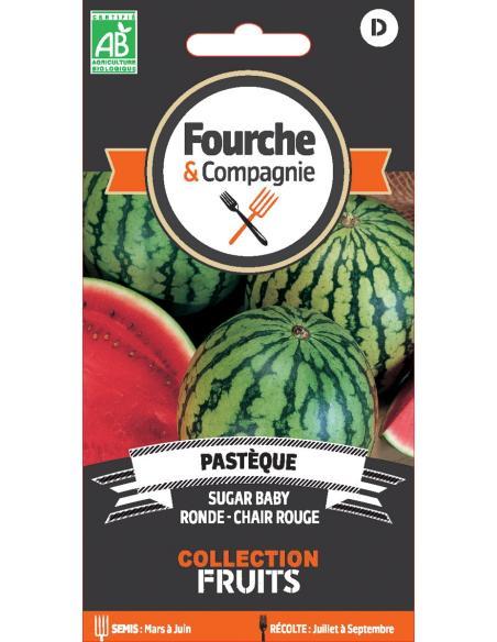Pastèque sugar baby Fourche et Compagnie Graines potagères