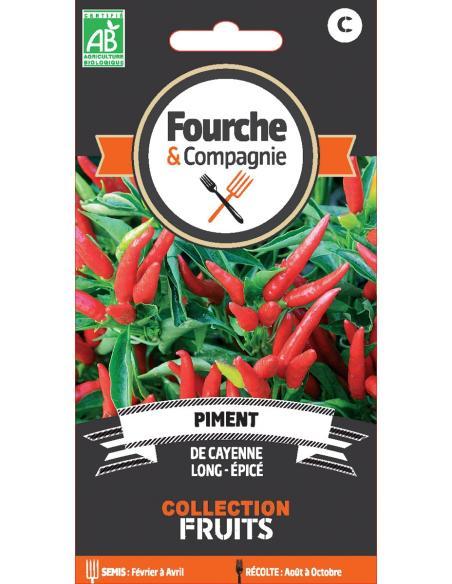 Piment de Cayenne Fourche et Compagnie Graines potagères