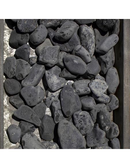 Galets de marbre noir 40/60mm 25Kg Natur'Déco Dalles, galets et pas japonais