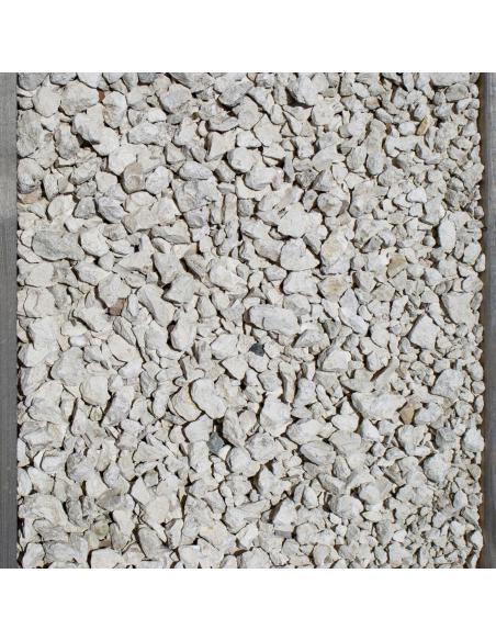 Gravillons décoratif blanc 25Kg Natur'Déco Dalles, galets et pas japonais