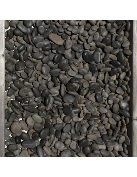 Galets Zen décoratifs Noir 15/25 mm 10Kg  Dalles, galets et pas japonais