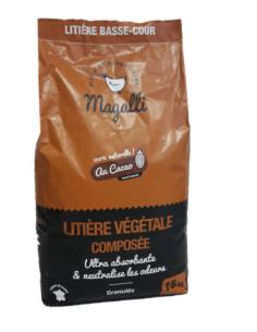 Litière végétale composée au cacao 15 Kg Magalli Soins et entretiens