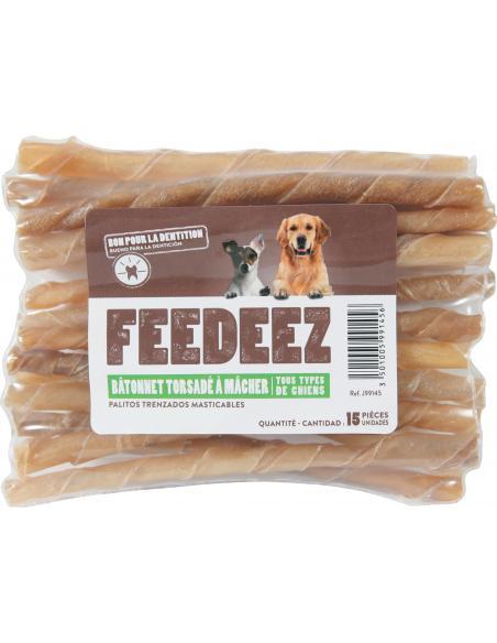 Feedeez - Bâtonnets torsadés fluor x15 Feedeez Alimentation et accessoires