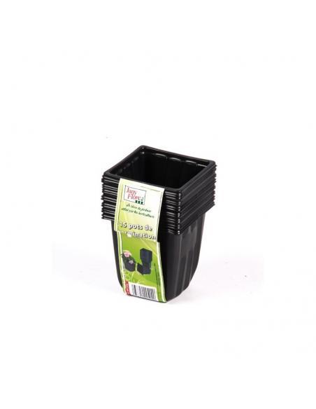 Godet Plastique Carrés 9cm X 15 Jany Flore Matériel pour semis