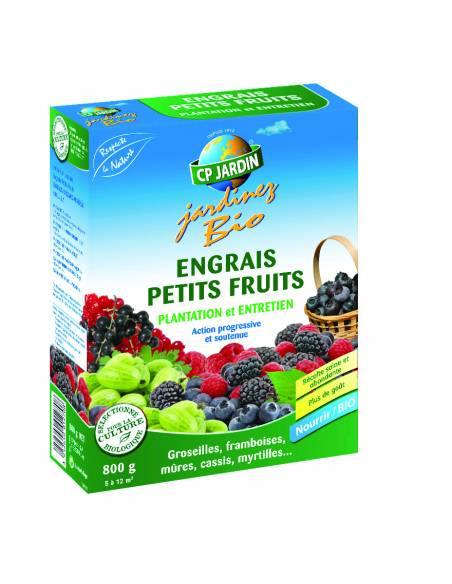 Engrais petits fruits 800gr Cp Jardin Engrais