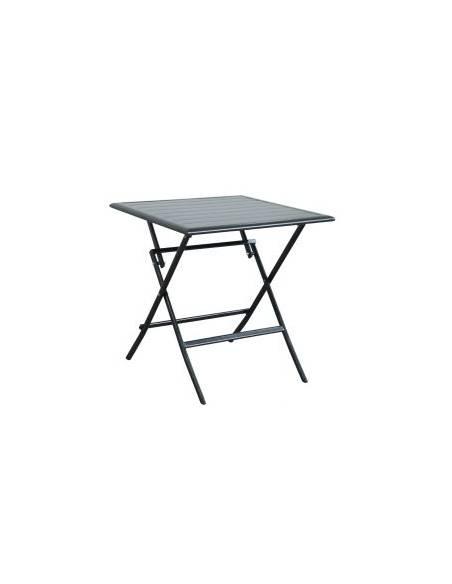 "Table ""Swing"" noir L70 x H72cm Jardiland Salons de jardin repas"