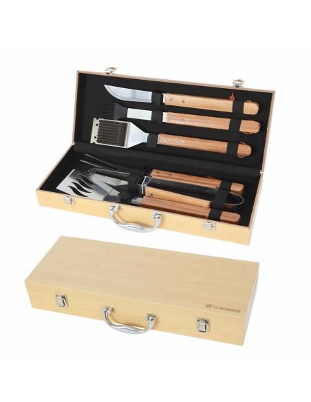 Mallette 6 ustensiles bambou Plancha/BBQ Le Marquier Cuisson et entretien