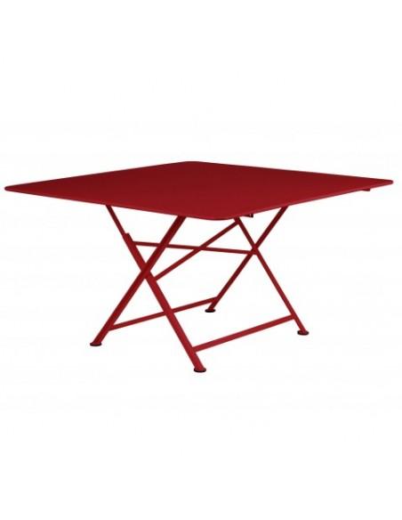 Table Cargo carré piment Fermob Salons de jardin repas