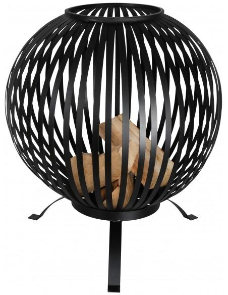 Brasero ajouré noir Ø59,2cm Esschert Design Braseros